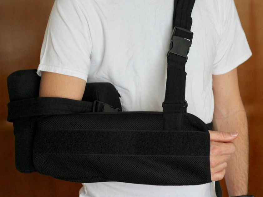 Support sling for post-op recovery from shoulder surgery for better sleep and comfortable wear